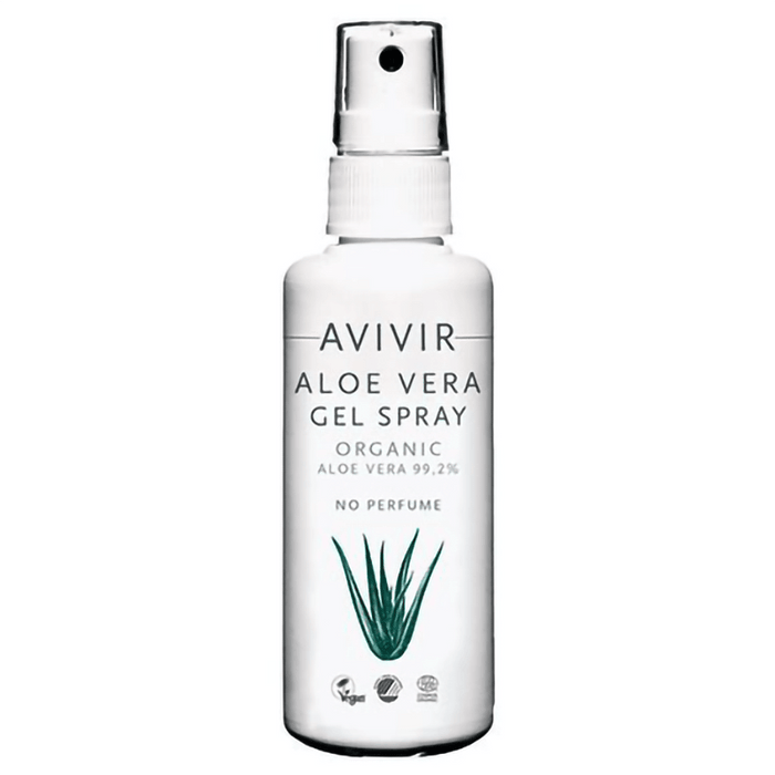 Avivir Aftersun Gel Spray med  99,2% Aloe Vera, Øko. 75 ml. - GreenOS.dk