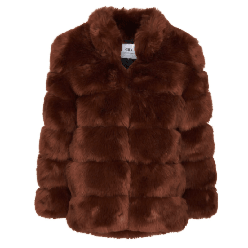 Di Dandanell,Alberta Faux Fur Jakke, Bear brown