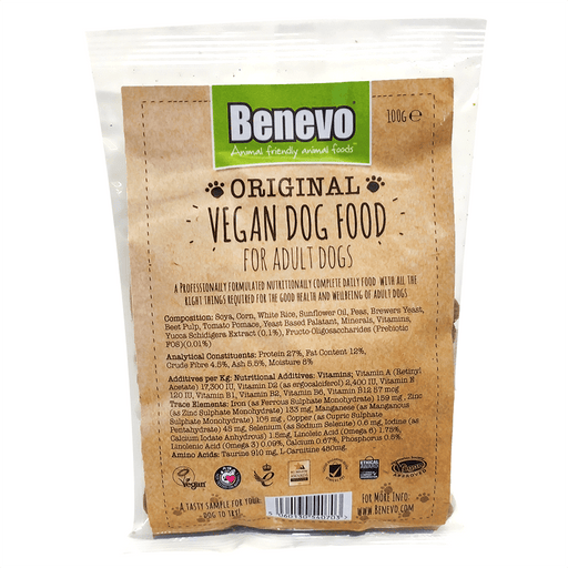Benevo Dog Original - Tørfoder til Hunde, Portion Bag / Tester 100g