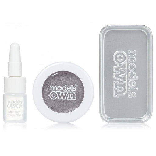Models Own Colour Chrome Eyeshadow Kit - Silver Steel - GreenOS.dk - GreenOS.dk