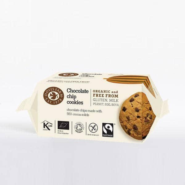 Doves Farm Chocolate Chip Cookies, Økologisk 180 g. - GreenOS.dk