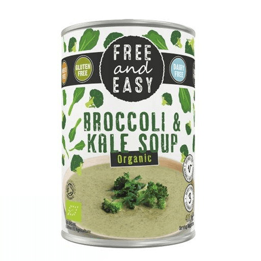 Free & Easy Broccoli & Kål Suppe Økologisk, 400 mL. - GreenOS.dk