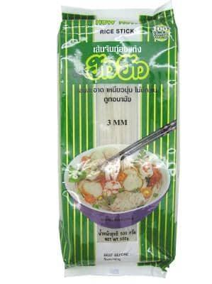 How How Rice Sticks - Thai Risnudler 3mm - 500g - GreenOS.dk
