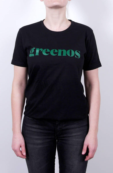 GreenOS T-shirt til damer- Sort