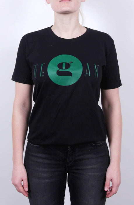 Vegan T-shirt til damer - Sort - GreenOS.dk