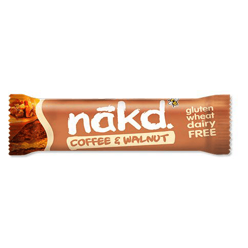 Näkd bar coffee & walnut 35g - Glutenfri