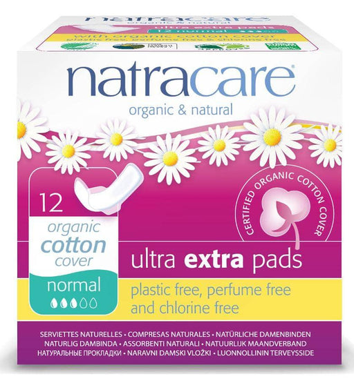 Natracare Ultra Extra Bind Normal m/vinger, 12 stk. - greenos