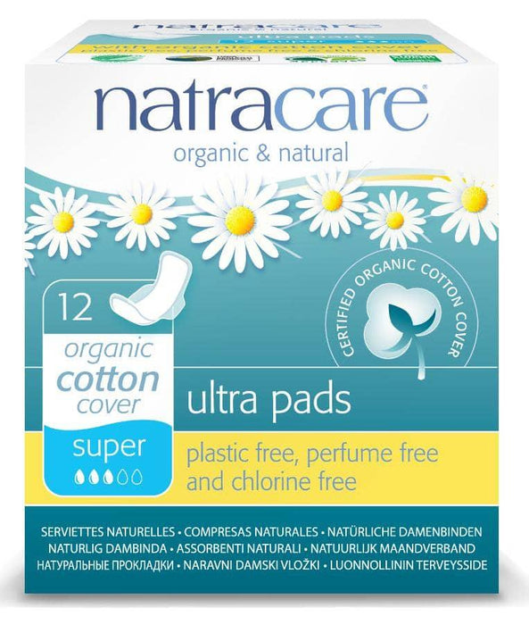 Natracare Ultra Bind Super m/vinger, 12 stk. - greenos