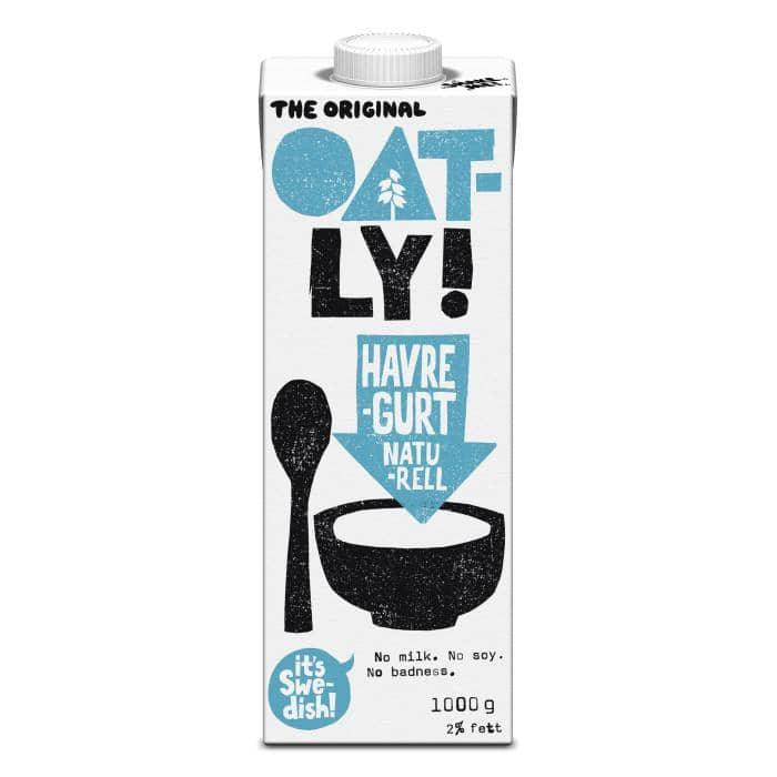 Oatly Havregurt natural, 1 l - GreenOS.dk