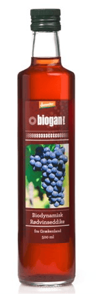 Biogan RØDVINSEDDIKE, 500 ml.