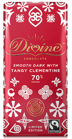 Divine Limited Edition Mørk Chokolade- Tangy Clementine 90 g.