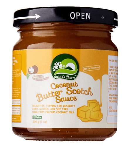 Nature's Charm Kokos Butter Scotch Sauce, 200 g.