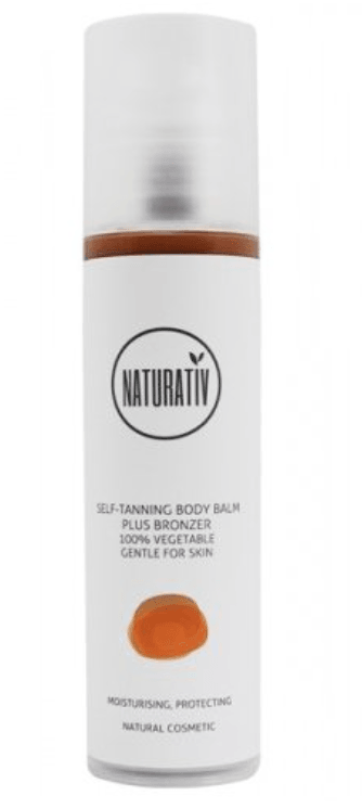 Naturativ SUN FUN - SELF-TANNING BODY BALM plus bronzer, 200 ml. - GreenOS.dk