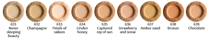 Uoga Uoga Foundation powder Linden Honey, SPF 15 8g. - GreenOS.dk