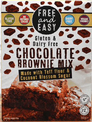 Free & Easy Choc brownie Mix, gluten & dairy free. 350g