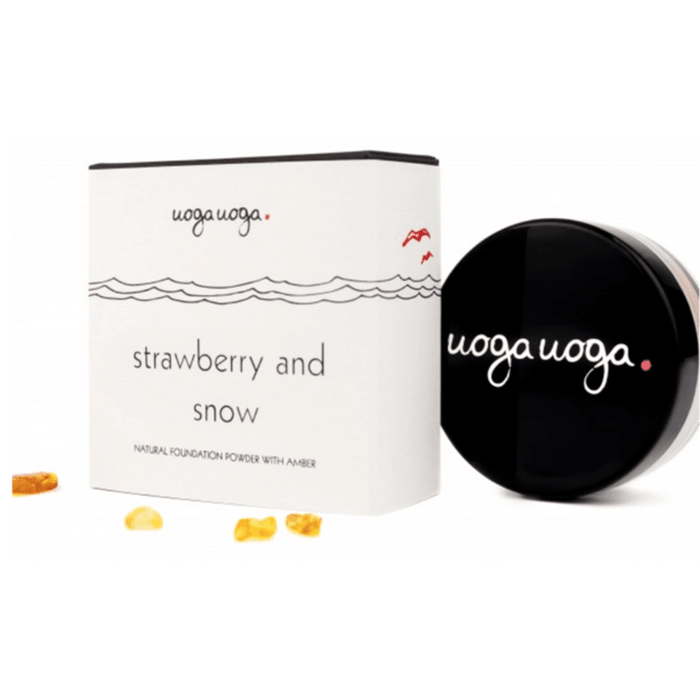 Uoga Uoga Foundation powder Strawberry & Snow, SPF 15 8g. - GreenOS.dk