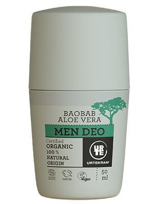 Urtekram Aloe Vera & Baobab Deo Mænd Roll-on, 50 mL