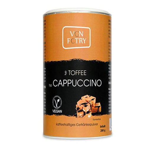 VGN FCTRY Instant Cappuccino Toffee - 280g - GreenOS.dk - GreenOS.dk