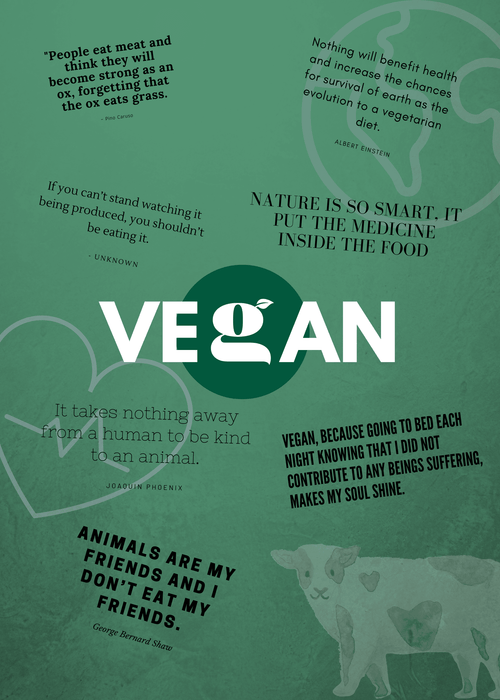 Limited edition - Greenos VEGAN plakat 29,7 x 42cm