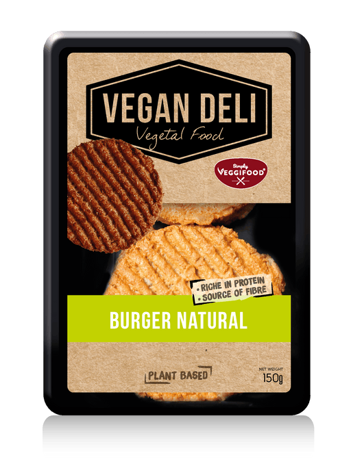 VEGAN DELI vegansk BURGER natural, 150g (2x75g)
