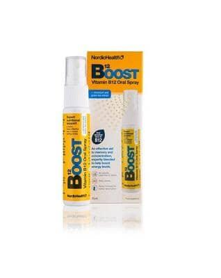 Nordic Health, B12 Boost vitamin spray, 25 ml - GreenOS.dk
