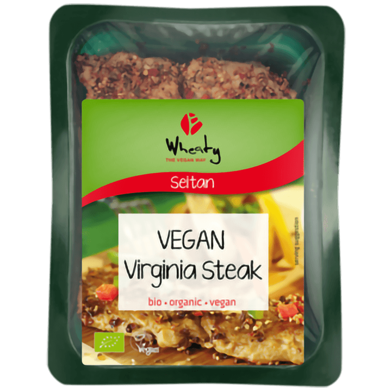 Wheaty Vegan Virginia Steak - Økologisk, 175g - GreenOS.dk