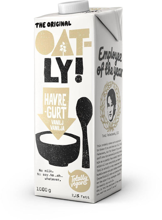 Oatly Havregurt Vanilje 1L vegansk mad fra greenos