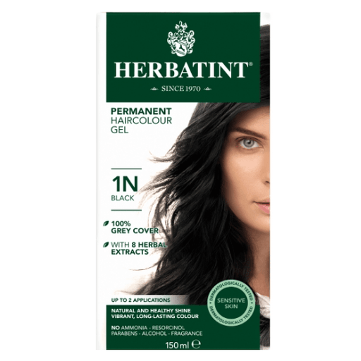 Herbatint 1N Hårfarve, Black (sort). - greenos