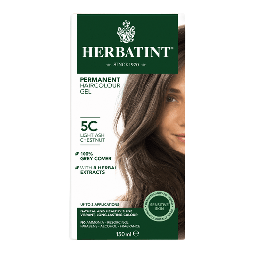 Herbatint 5C Hårfarve, Light Ash Chestnut. - greenos