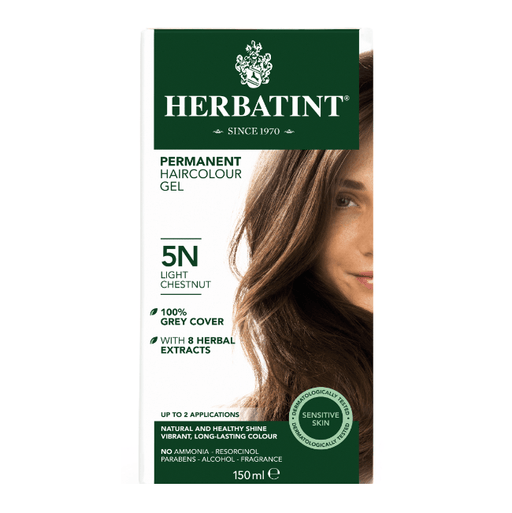 Herbatint 5N Hårfarve, Light Chestnut. - greenos