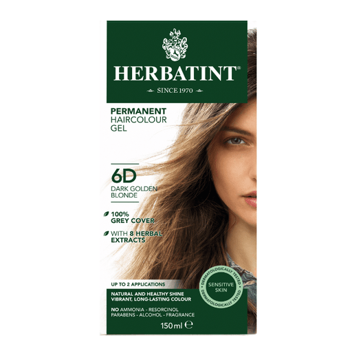 Herbatint 6D Hårfarve Dark Golden Blonde - greenos