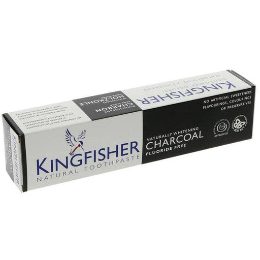 Kingfisher Charcoal Whitening Tandpasta, 100 mL. - GreenOS.dk
