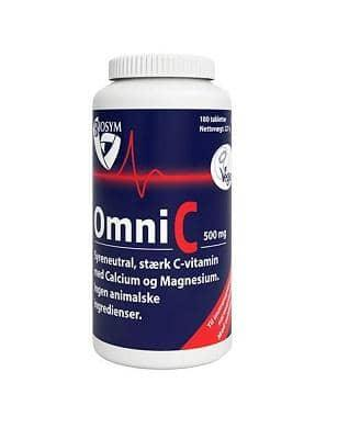 OmniC 500 mg stærk c-vitamin, 180 tabletter