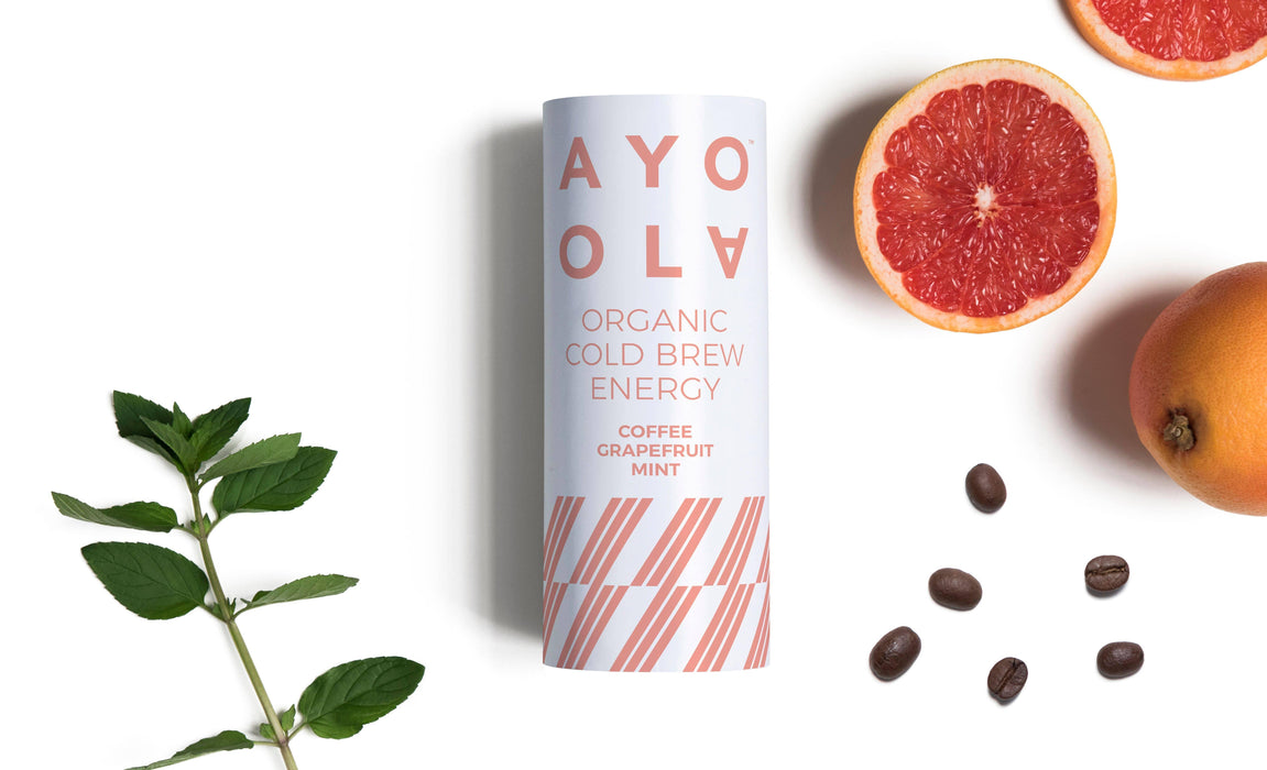AYOOLA Cold Brew Coffee - Grapefruit & Mint, Økologisk 235ml - GreenOS.dk