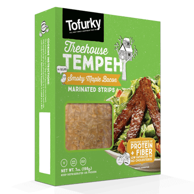Tofurky Tempeh Smoky Maple Bacon, 200 g. (best før 05/09 2019) - GreenOS.dk