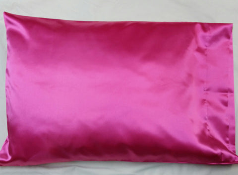 Hot Pink Satin Pillowcase