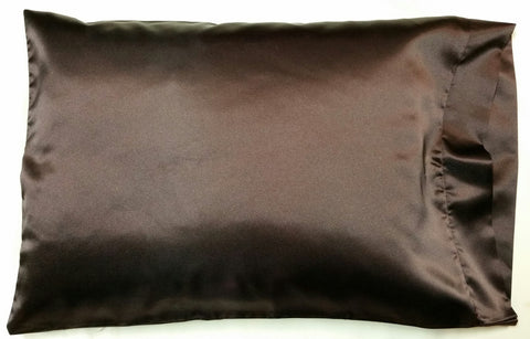 Brown Satin Pillowcase
