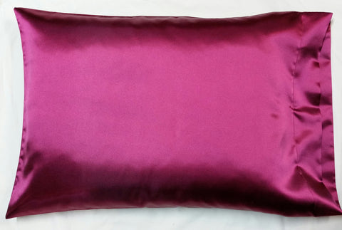 Wine Satin Pillowcase