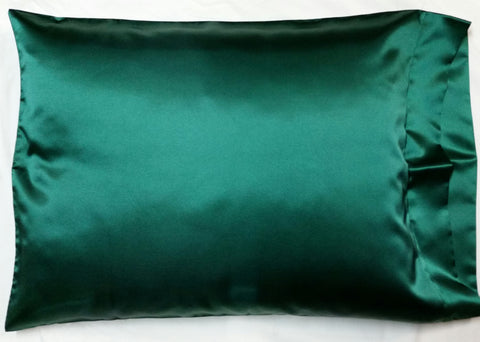 Forest Green Satin Pillowcase