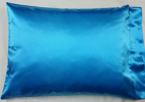 Turquoise Satin Pillowcase