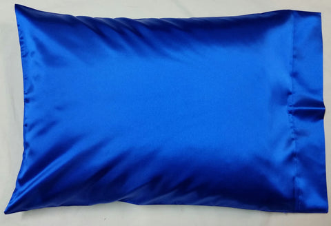 Royal Blue Satin Pillowcase