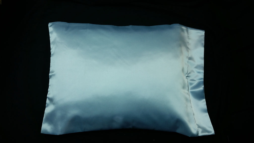 Light Blue Satin Pillowcase