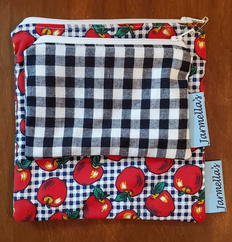 Two Piece Sandwich/Snack Bag Set - Apples
