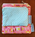 Two Piece Sandwich/Snack Bag Set - Fairies