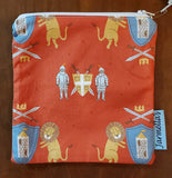 Two Piece Sandwich/Snack Bag Set - Lion/Knight