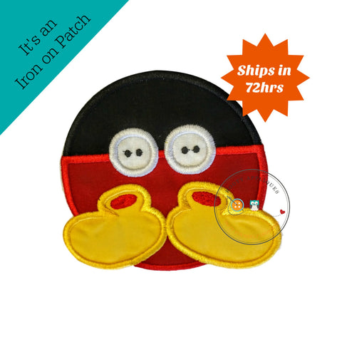 Mickey Mouse inspired iron on button applique