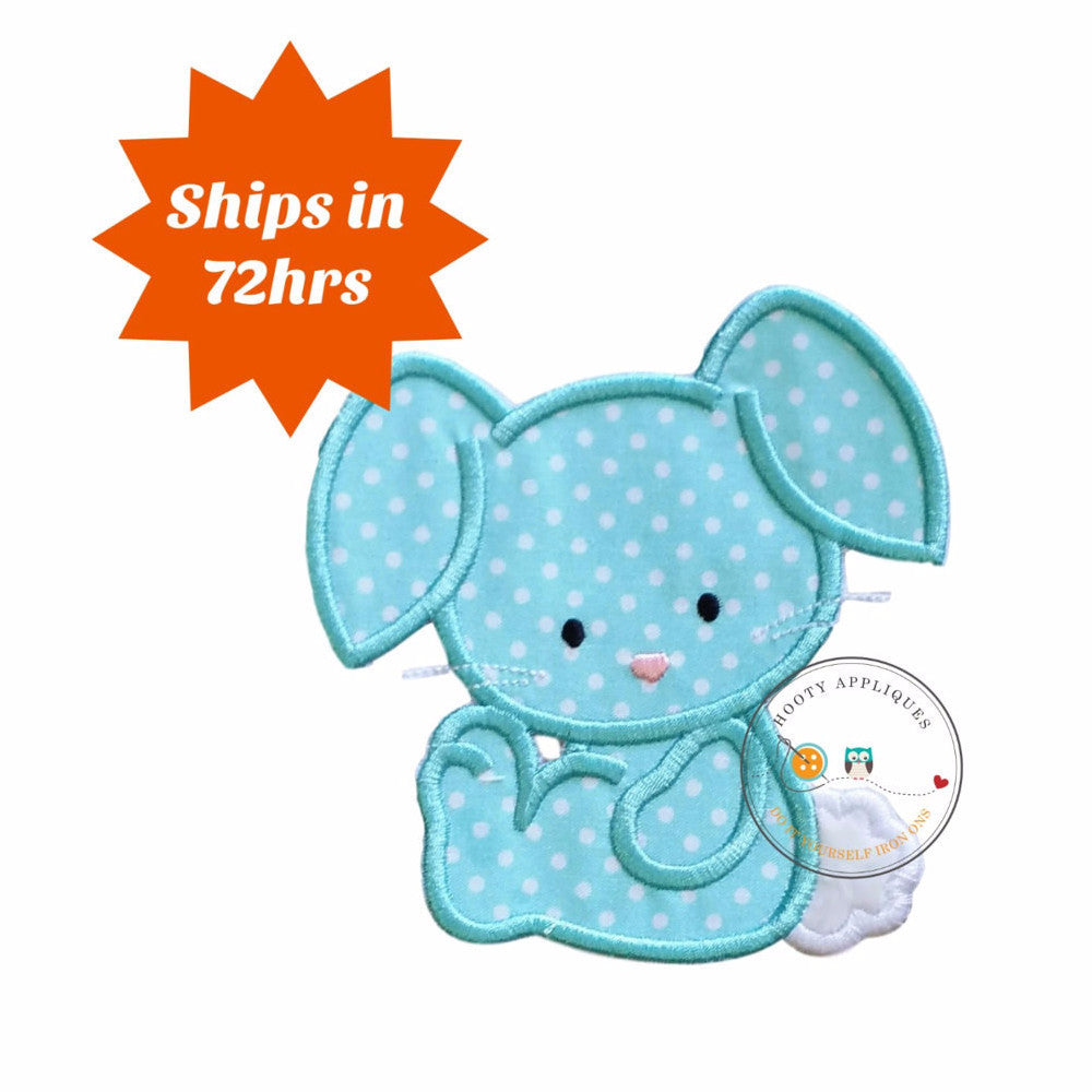 Cotton tail bunny iron on patch, teal bunny applique