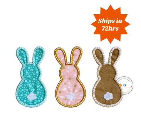 Bunny Trio Easter iron on patches for kids clothing