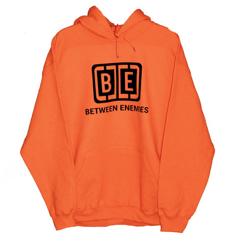 Cage logo hoodie orange - BETWEEN ENEMIES