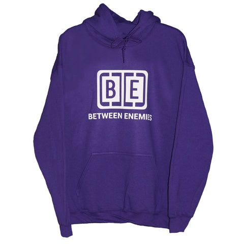Cage logo hoodie purple - BETWEEN ENEMIES